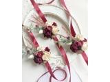 Оригинальные свадебные бутоньерки на руку handmade