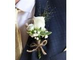 Butonieră nuntă căsătorie pentru mire,prietenii mirelui handmade
