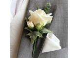 Оригинальные свадебные бутоньерки для жениха, друзей ручной работы