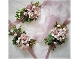 Оригинальные свадебные бутоньерки на руку ручной работы