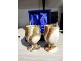 Set 2 pahare din piatra natural onix