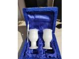 Набор из 2-х стаканов из натурального камня оникс