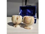 Set 2 pahare pentru coniac din piatra naturala onix