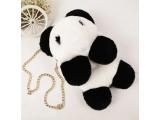 """Rucsac - geantă de mână din blană  """"Panda"""""""