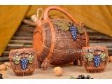 Butoi din argilă realizat manual