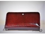 Clutch - portofel de damă cu două fermoare în roșu