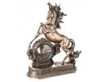 """Статуэтка-часы """"Грациозный конь"""" в античном стиле"""