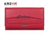 Portofel pentru femei KARYA din piele naturală roșie  (Turcia)